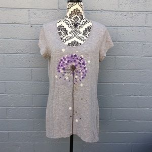 Sahalie Gray Purple Dandelion Top